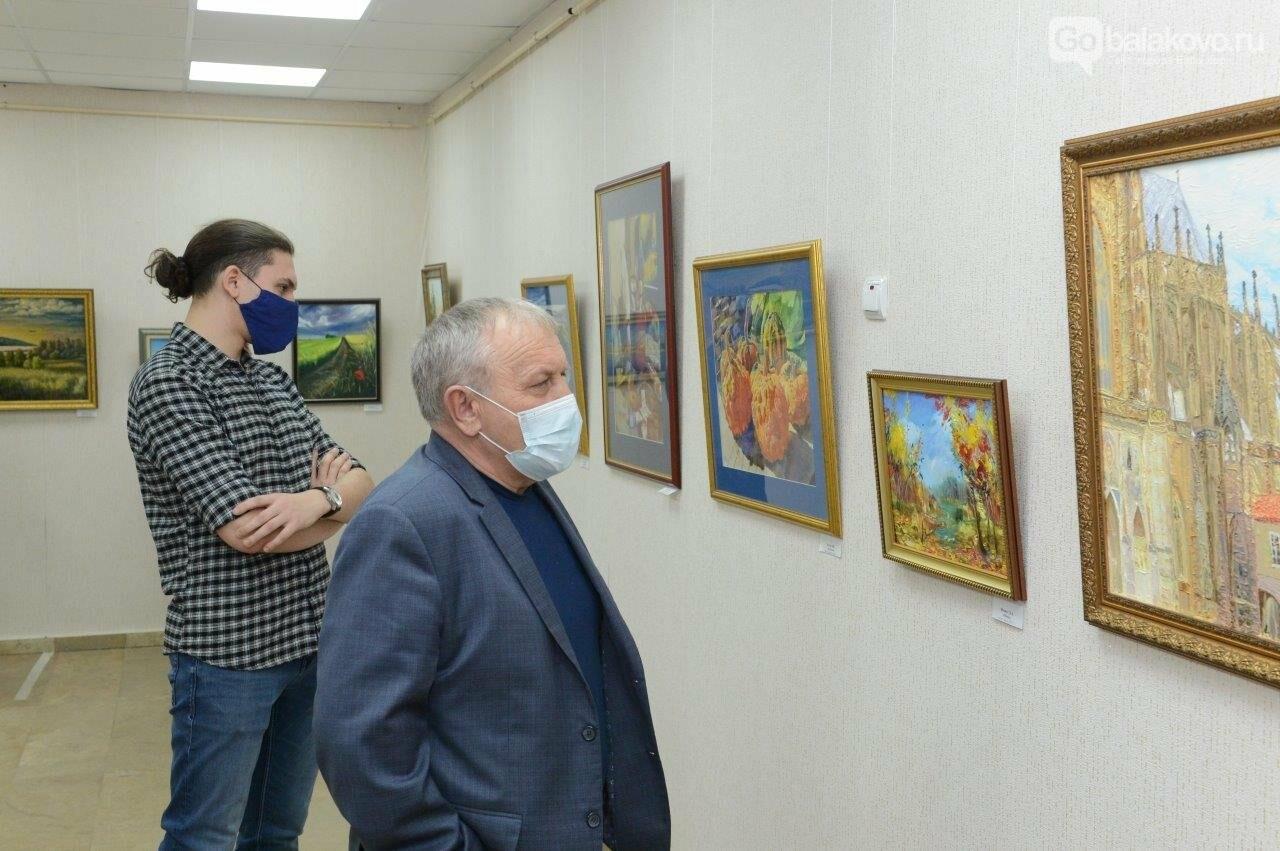 В Городском выставочном зале открылась уникальная коллективная выставка художников Балаковской АЭС «Атомный калейдоскоп», фото-2