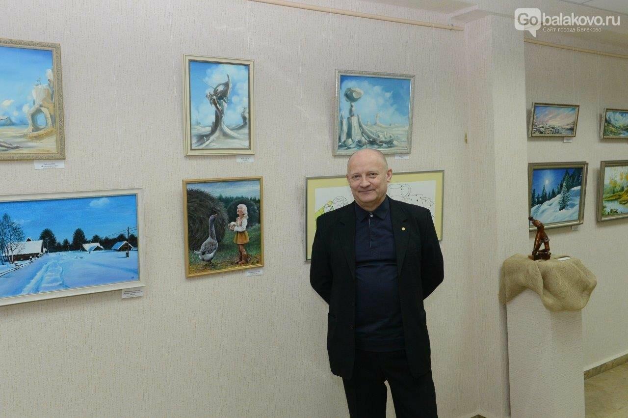 В Городском выставочном зале открылась уникальная коллективная выставка художников Балаковской АЭС «Атомный калейдоскоп», фото-4