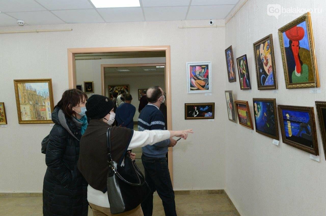 В Городском выставочном зале открылась уникальная коллективная выставка художников Балаковской АЭС «Атомный калейдоскоп», фото-3